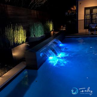 Dallas Modern Pool Rain Falls