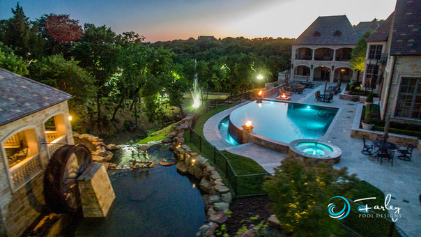 Flower Mound Infinity with Water Wheel