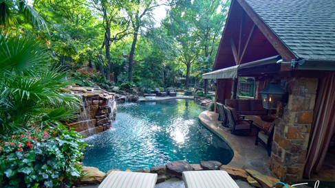 Dallas Natural Pool & Spa with Cave