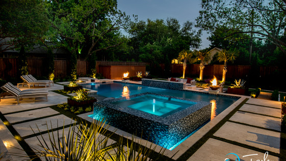 Dallas Transitional Pool and Spa