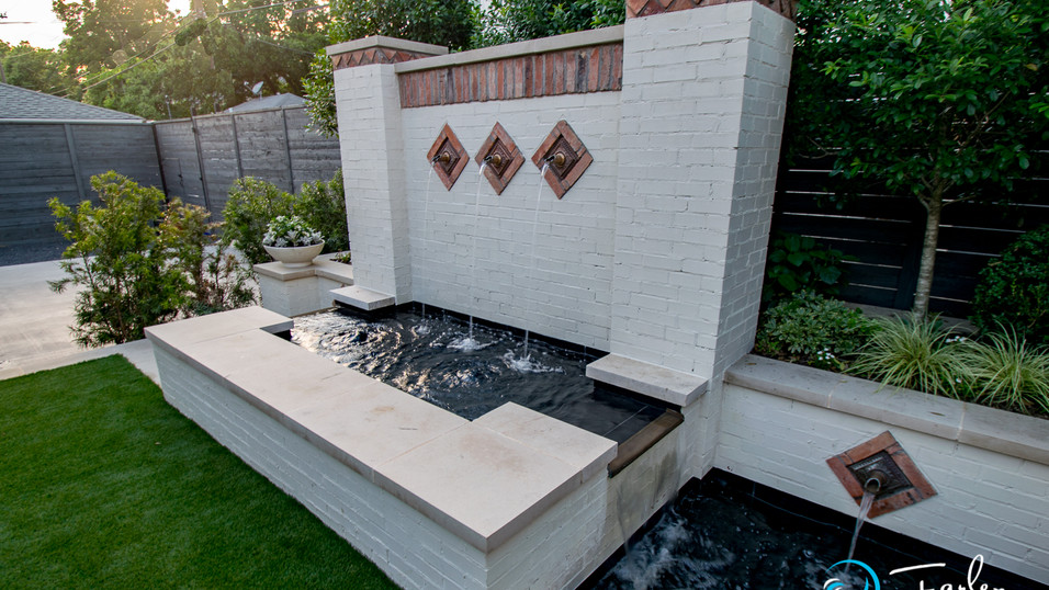Painted Brick Fountains with Spouts