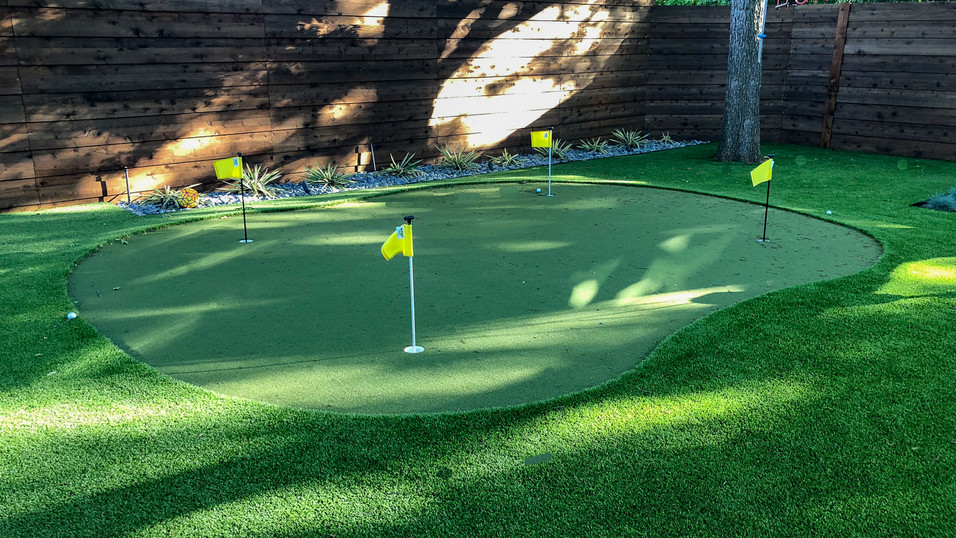 Putting Green by Pool