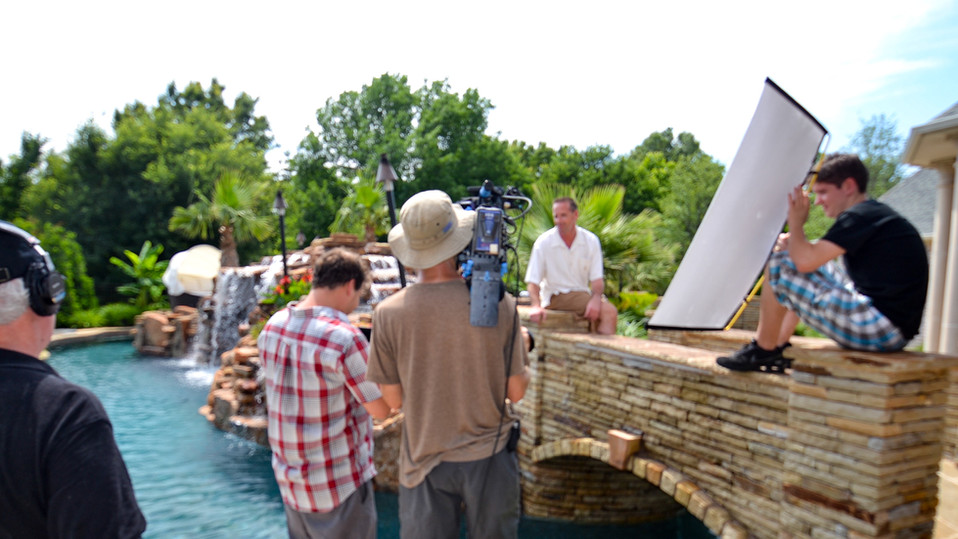 Filming for HGTV Lazy River