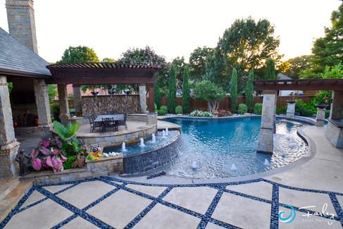 Geometric Fire & Water Pool