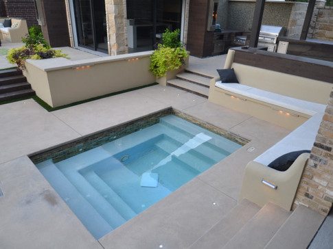 Spa with built in seating