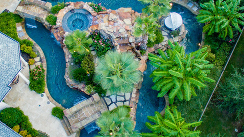 Drone shot Colleyville Lazy River