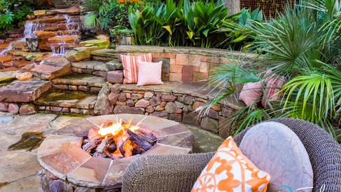Fire Pit and Seating Area