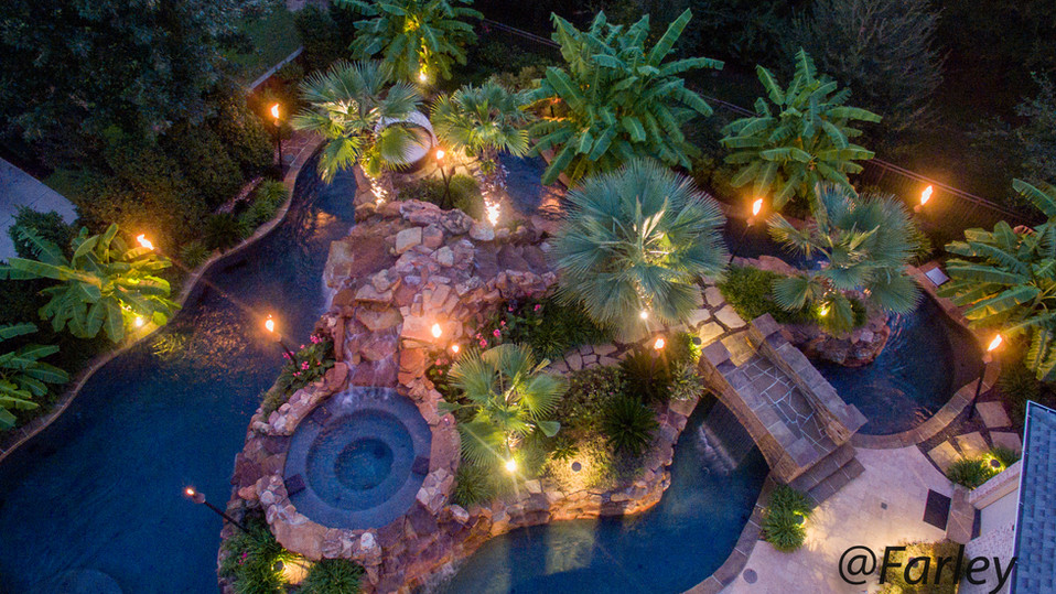 Colleyville Lazy River night Drone Shot 2017.jpg
