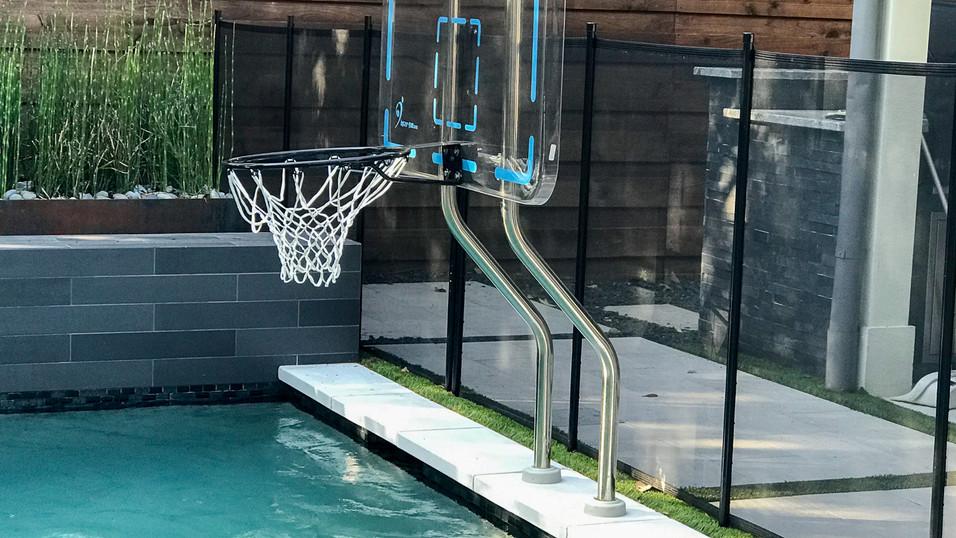 Built In Basketball Goal for Pool