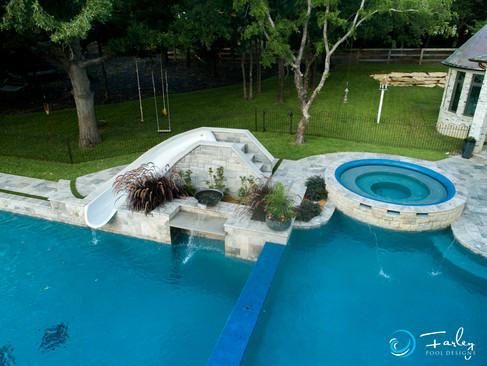 Argyle Double Pool with Dual Grottos