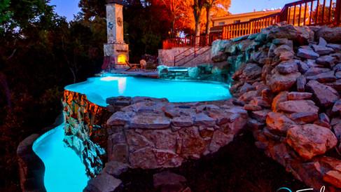 Lake Worth Steep Hillside Pool