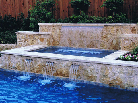 Symmetrical Spa with Water Features