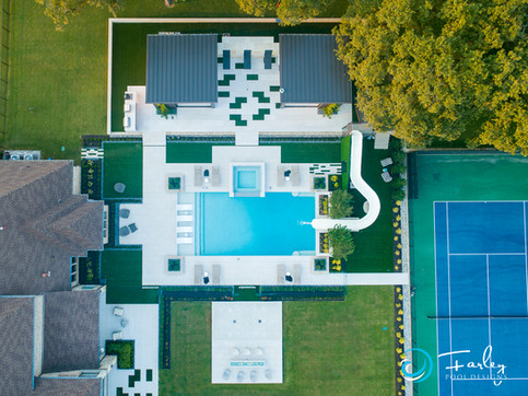 Drone shot top view
