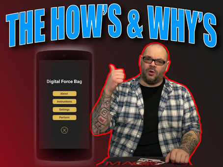 The How's And Why's Of DFB (Digital Force Bag) | | Magic Stuff With Craig Petty