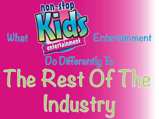 Children's Entertainers With A Difference - What Non-Stop Kids Entertainment Do Differently