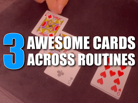3 Awesome Cards Across Routines You Have Never Seen Before | Magic Stuff With Craig Petty
