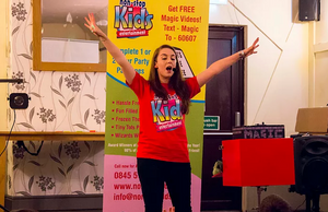 A Non stop kids entertainer performs at a kids show