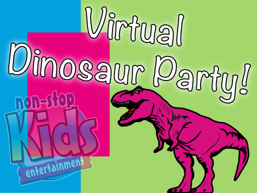 Virtual Dinosaur Party | Virtual Parties With Non-Stop Kids Entertainment
