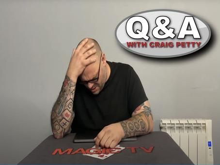Sean Haydon, Is Craig A Loser, Getting Gigs, Mentalism, Confabulation & More | Q&A With Craig Petty