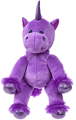 magic the purple unicorn teddy bear used for a non stop kids party