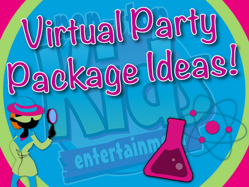 Virtual Party Package Ideas | Non-Stop Kids Entertainment Virtual Parties 2020