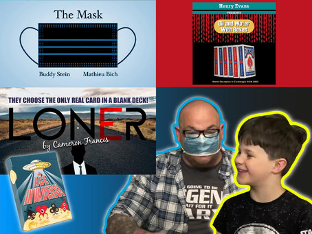 Oil & Water With Boxes, Loner, Ace Alien Cards & The Mask | Craig & Ryland's Magic Review Show