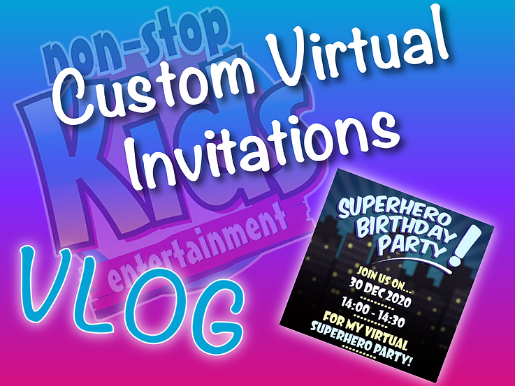 Custom Virtual Invitations | Virtual Par