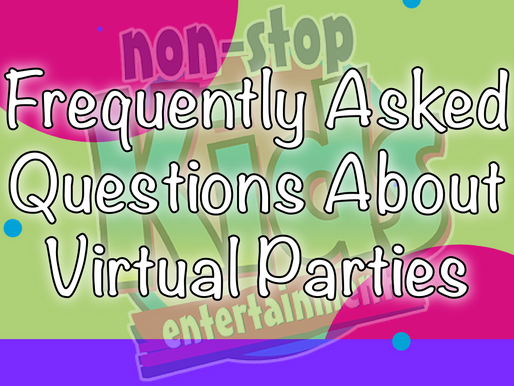 Frequently Asked Questions About Virtual Parties | Kids Party Ideas