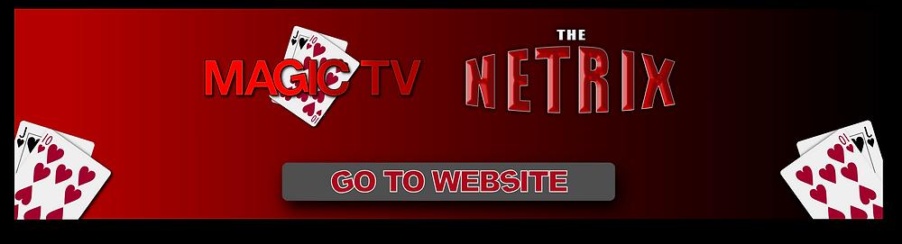 Magic TV & Netrix logos call to action banner
