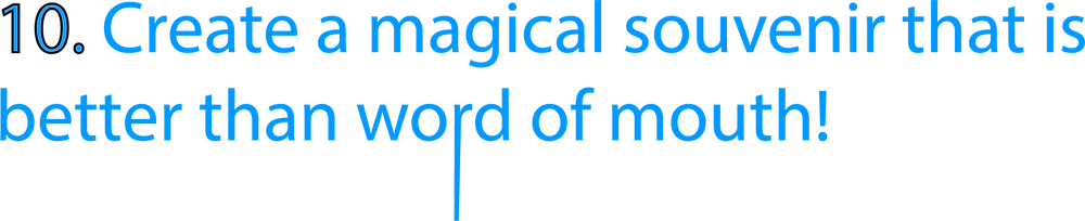 blue header which says 'create a magical souvenir that is better than word of mouth' which is used for a slightly unusual blog