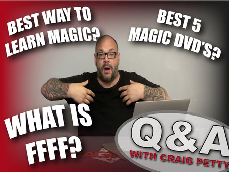 Craig's New Blank Card Trick, Getting Feedback, Best Online Lecture Platform   Q&A With Craig Petty
