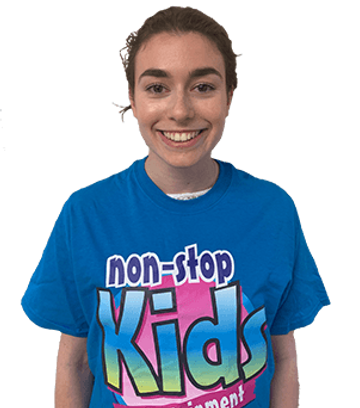 female non stop kids entertainer