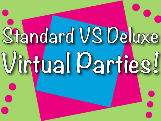 Standard VS Deluxe Virtual Party Package | Virtual Party With Non-Stop Kids!