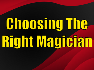 Choosing The Right Magician | Corporate Entertainment With Slightly Unusual 2021