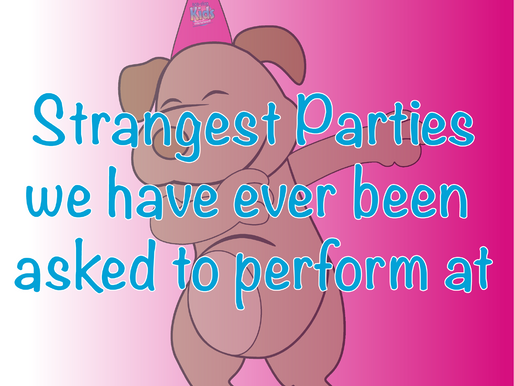 Strangest Parties We Have Ever Been Asked To Perform At | Children's Entertainment 2021