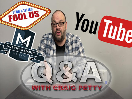 How I Remain Positive & Favourite Penn & Teller Fool Us Performances! | Q&A With Craig Petty
