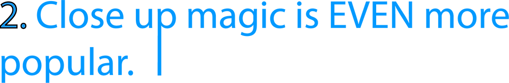 blue header which says 'close up magic is even more popular' which is used for a slightly unusual blog