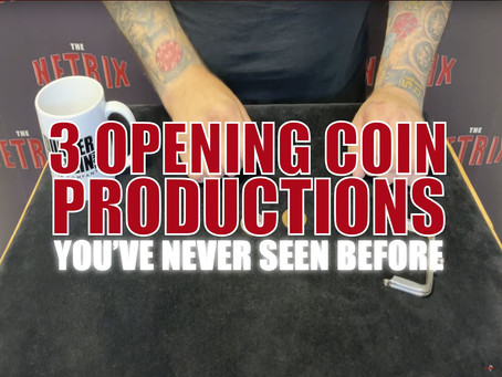 3 Opening Coin Productions You Have Never Seen Before | Magic Stuff With Craig Petty