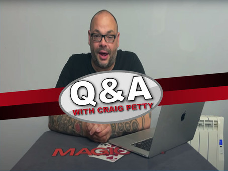 Book Tests, Coin Magic, Best FASIDIU Card Tricks, Reinvention, Visible & More | Q&A With Craig Petty
