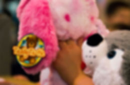 Bear being held by a kid in one of our Teddy Tastic Party shows