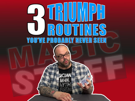 3 Triumph Routines That Have Probably Never Seen Before | Magic Stuff With Craig Petty