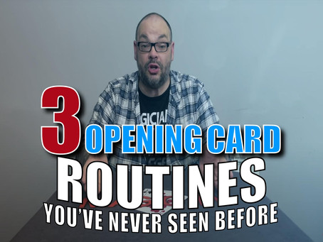 3 Opening Card Routines You Probably Haven't Seen Before | Magic Stuff Craig Petty