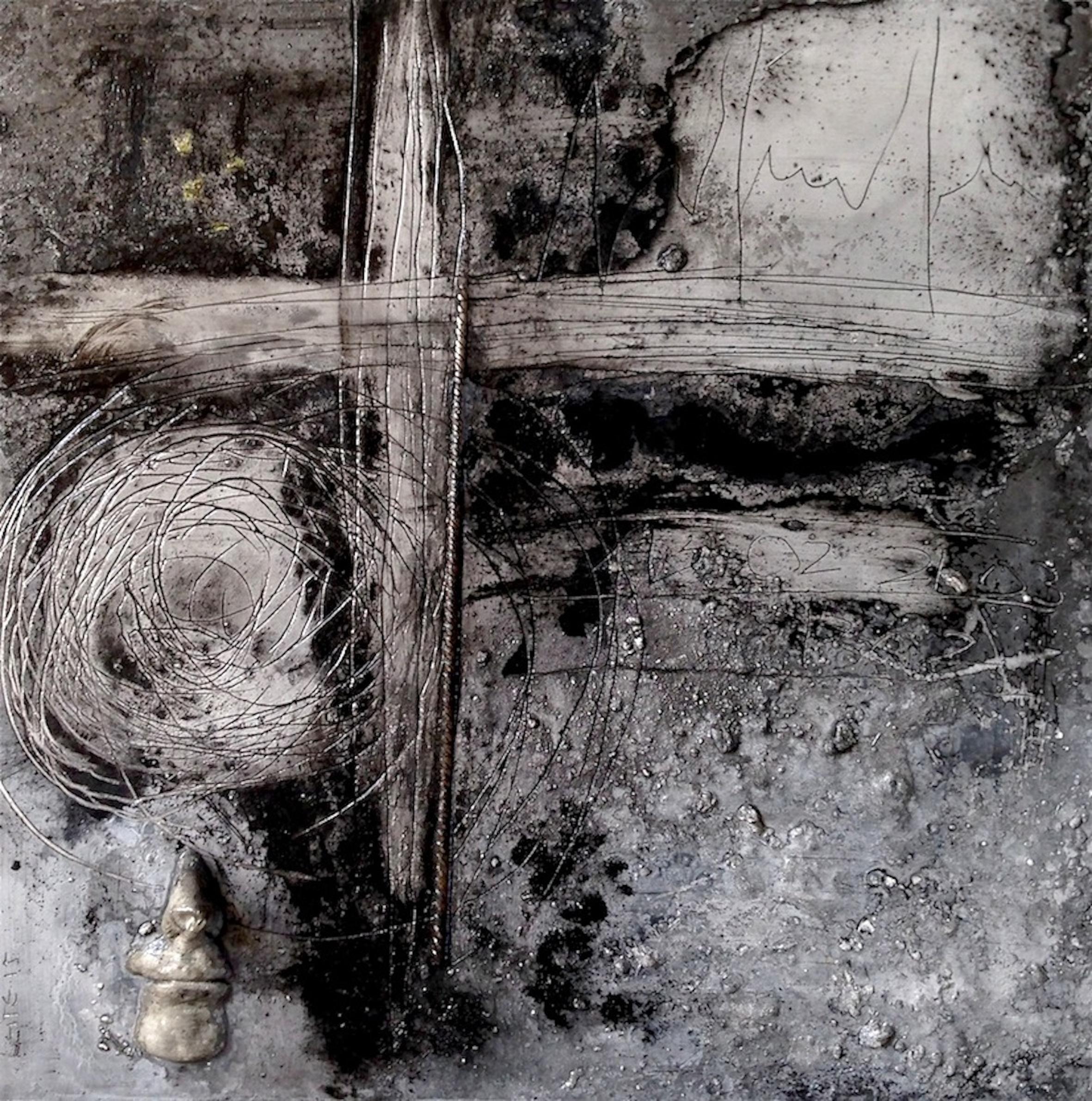 Table d'écriture, Croix gravée