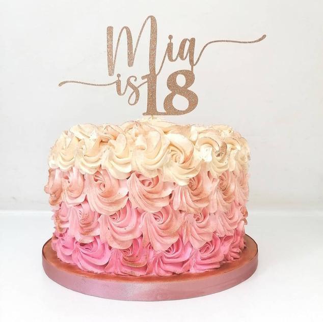 Ombre Rose Red Velvet Cake
