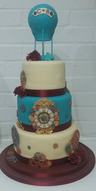 steampunk-themed-wedding-cake