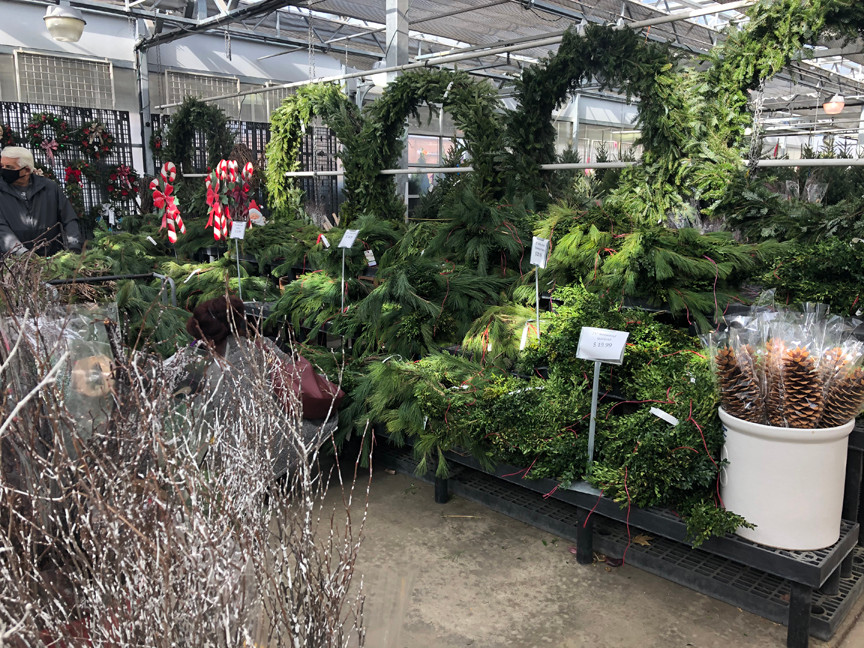 Wreaths, Blankets, Greens and Decorations