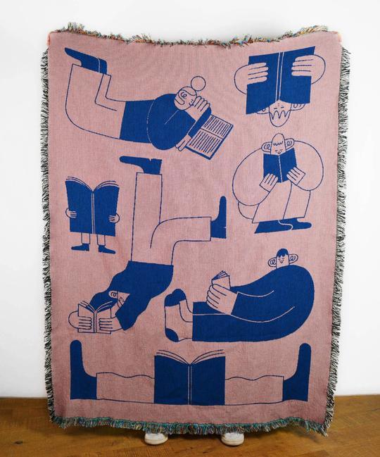 Hollie Fuller ~ Illustrated Book Club Throw Blanket