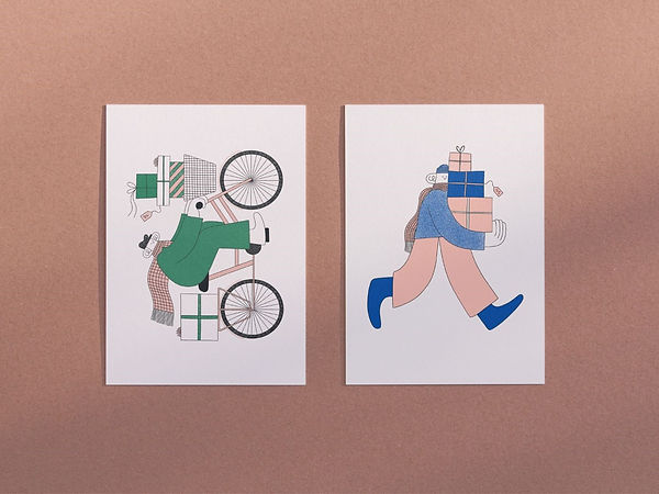 Christmas card designs by Hollie Fuller