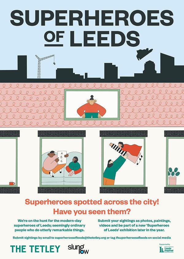 Superheroes of Leeds - The Tetley - Illustrations by Hollie Fuller - Design by Saul Studio