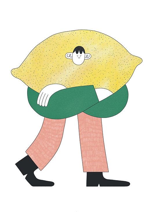 Bitter Lemon Man Illustration